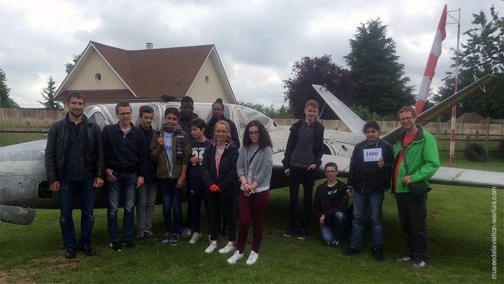 visite du BIA de Georges Sand et un des élèves était le 1000 éme visiteur de 2016, juin chargé au musée