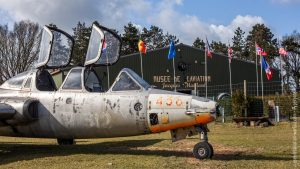 Fouga Magister n°438 au Musée de l'Aviation de Warluis